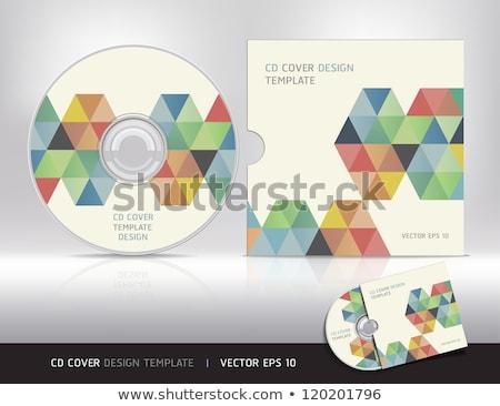 Soyut cd kapak dizayn vektör karanlık Stok fotoğraf © Pinnacleanimates