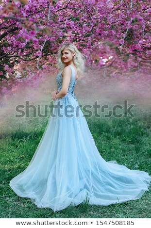 belle · floraison · verger · fraîches · vert · arbuste - photo stock © konradbak