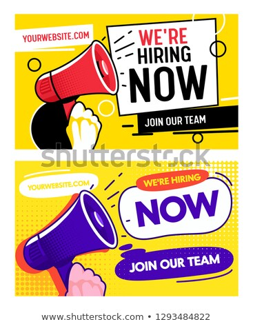 we are hiring on business card stock photo © stevanovicigor