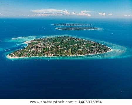 Тропический · остров · воздуха · Индонезия · воды · лет · синий - Сток-фото © janpietruszka