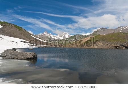 pointe rousse lake italy stock photo © antonio-s