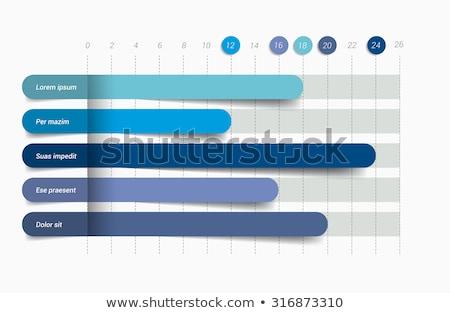 Nowoczesne wektora streszczenie wykres słupkowy elementy Zdjęcia stock © jiunnn