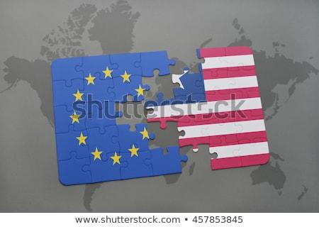 ヨーロッパの · 組合 · 島々 · フラグ · パズル · ベクトル - ストックフォト © istanbul2009