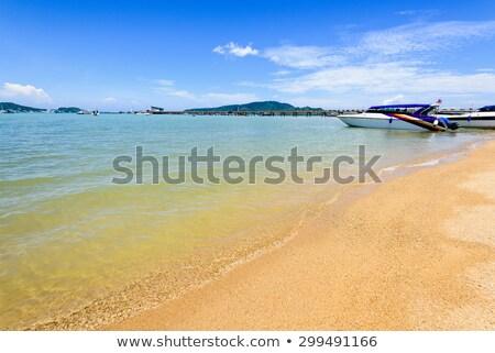 zee · pier · reizen · boot · phuket - stockfoto © yongkiet