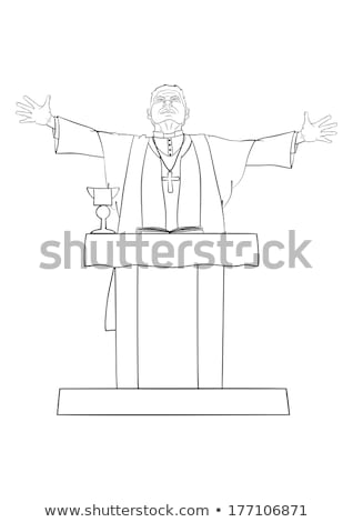 священник похороны иллюстрация Церкви молитвы празднования Сток-фото © adrenalina