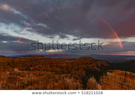rainbow storm amphitheater hoodoos bryce point bryce canyon nati stock photo © billperry