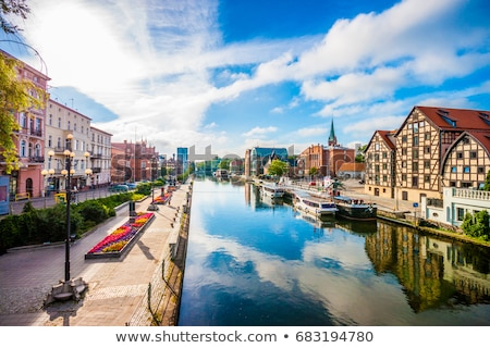 river view of bydgoszcz in poland stock photo © rognar