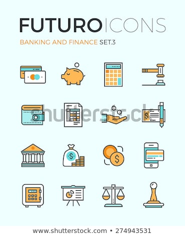 Earnings Calculator, Business Icon. Flat Design. Stock photo © WaD