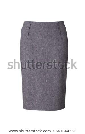 Grigio gonna isolato donna moda design Foto d'archivio © shutswis