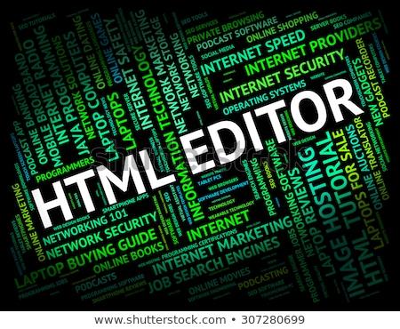 Html szó hipertext nyelv kód mutat Stock fotó © stuartmiles