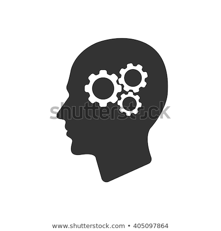 gear in head piktogramm solution or imagination or engineering stock photo © pashabo
