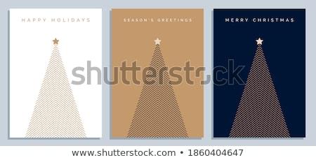 Simple minimalistic vector christmas tree  Stock photo © orson