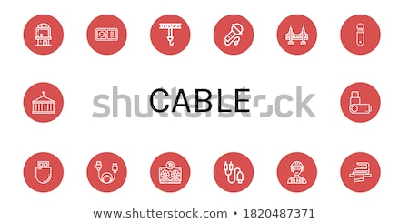 Plug Sign golden Vector Icon Design Stock photo © rizwanali3d