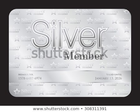 Silver member club card with small stars pattern Stock photo © liliwhite