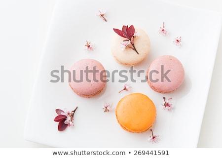 homemade macaron cookies top view stock photo © stevanovicigor