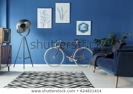 Spacious gray coloured living room Stock photo © jrstock