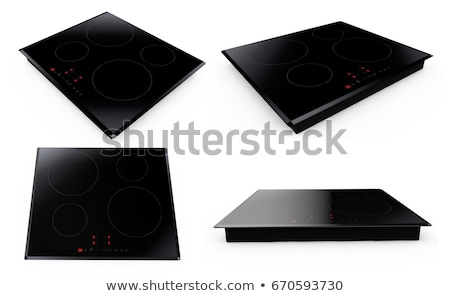 Double ceramic cooktop Stock photo © magraphics