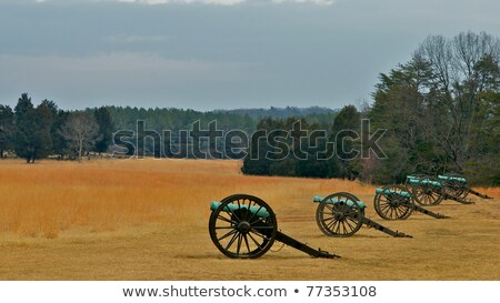 Bull Run Cannon in Field Stock photo © saje