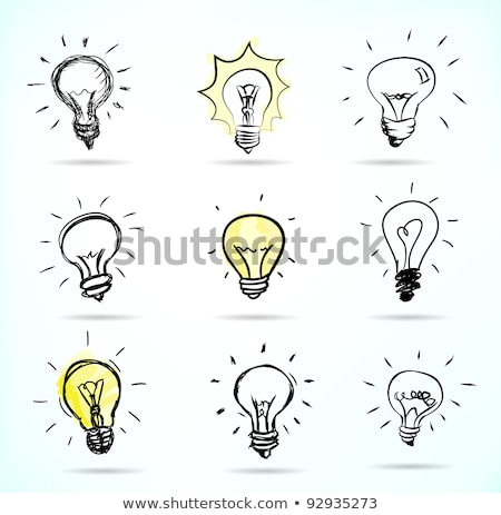 sketchy electric bulb stock photo © get4net