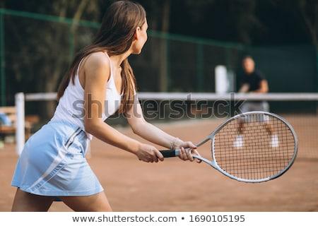 Fiatal nő játszik labda fiatal gyönyörű nő izolált Stock fotó © user_9834712