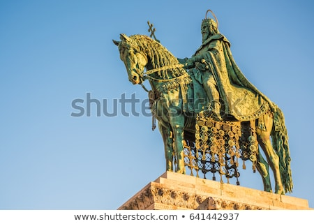 saint stefan statue in budapest hungary stock photo © kayco