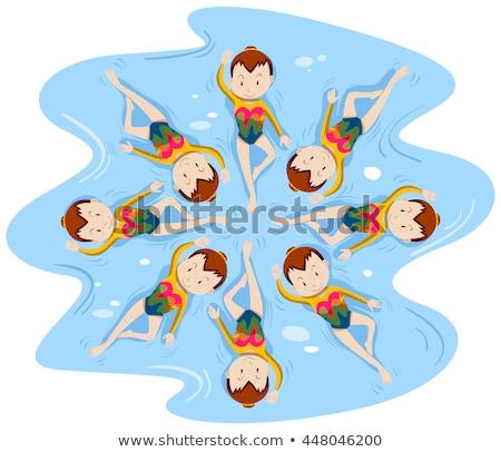 mulher · natação · jovem · caucasiano · boné - foto stock © bluering