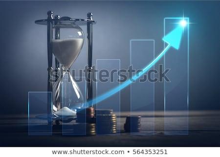 Az idő pénz szín 3D dobozok szöveg üzlet Stock fotó © marinini