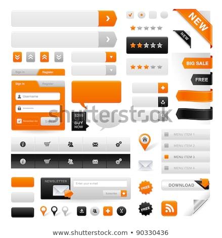 икона кнопки вектора графических искусства Сток-фото © vector1st