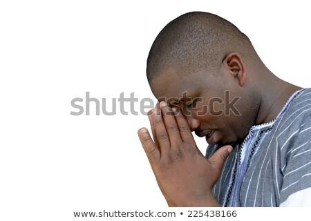 プロファイル 肖像 クリスチャン 男 祈っ コピースペース ストックフォト © stevanovicigor