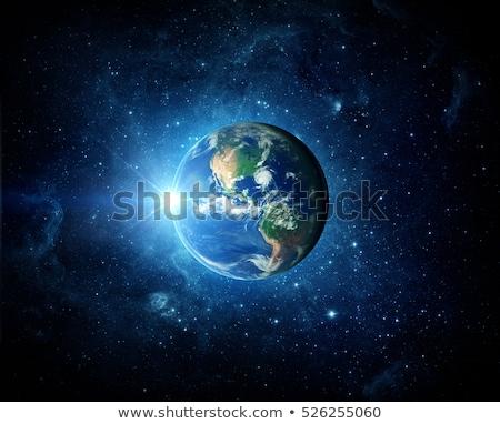kaçış · mavi · dünya · gezegeni · damla · üzücü · gözyaşı - stok fotoğraf © Andersduus