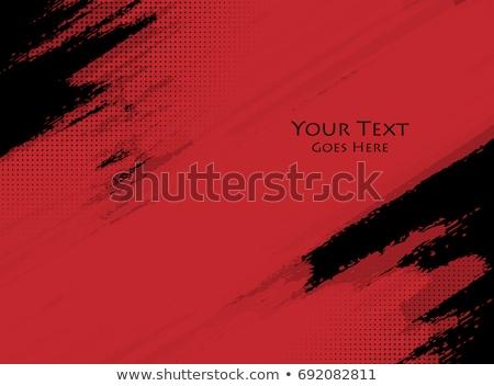 siyah · grunge · çerçeve · boya - stok fotoğraf © vector1st