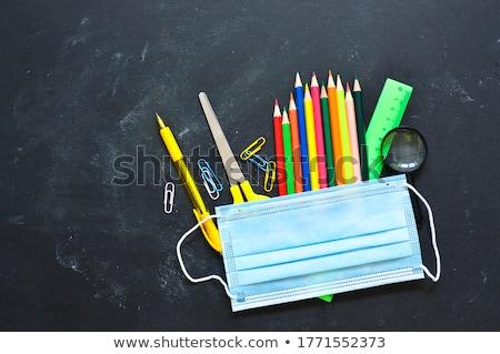 graduação · cobrir · boné · livros · imagem - foto stock © lightsource