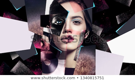 Woman with a creative body-art and make-up Stock photo © amok