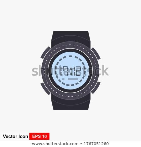 vector · negocios · mano · cara · reloj - foto stock © vectorworks51