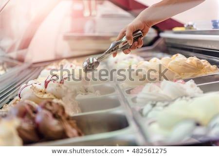 Fagylalt bolt illusztráció nyár hideg krém Stock fotó © adrenalina