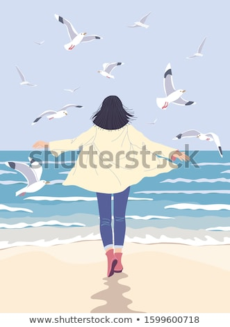 Dreamy girl in vacation  Stock photo © orla