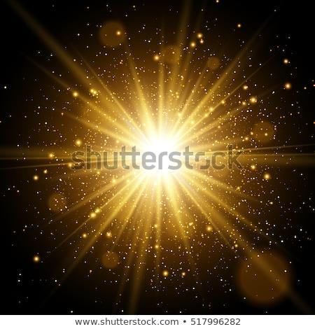 Set of textured gold stars Stock photo © blackmoon979