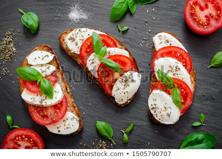 свежие моцарелла помидоров базилик Ингредиенты салат Капрезе Сток-фото © Digifoodstock