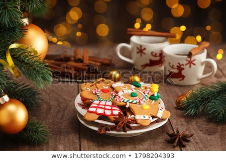 Christmas gember biscuits illustratie chocolade koken Stockfoto © adrenalina