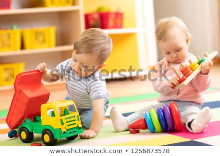 Stock photo: Baby indoors