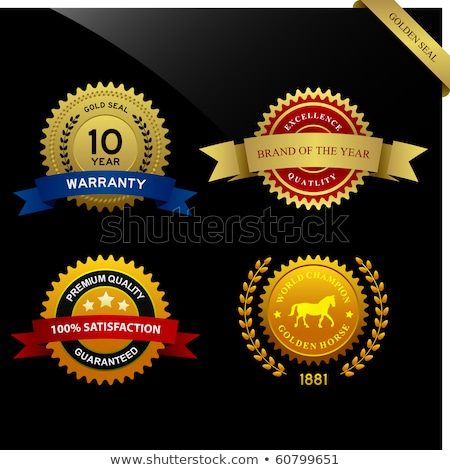 best of the year golden badge or label vector design stock photo © sarts