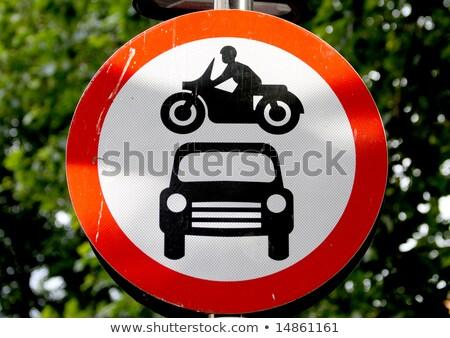 No through road sign for motorbikes Stock photo © luissantos84