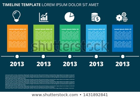Infographic diagonal timeline template Stock photo © orson
