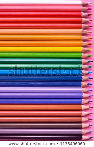 Kredki w górę tęczy odizolowany biały szkoły Zdjęcia stock © julenochek
