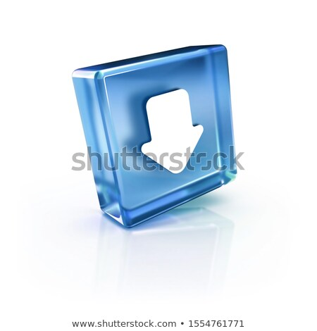 Keyboard with Blue Key - Archive. 3D Rendering. Stock photo © tashatuvango