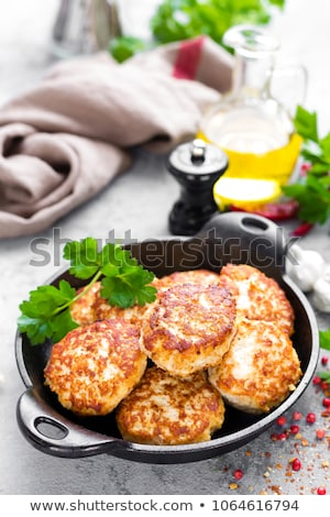 fried meat cutlets Stock photo © yelenayemchuk