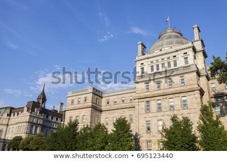 Oude justitie Montreal hemel gebouw Blauw Stockfoto © benkrut