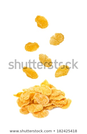 Cornflakes detail niemand voeding snack Stockfoto © Digifoodstock