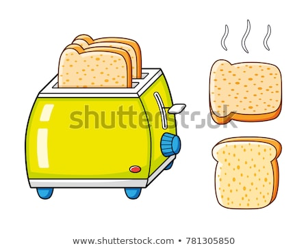 Foto d'archivio: Vector Toasted Bread Slices And Toaster