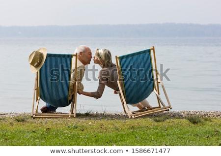 Couple détente femme eau corps verre Photo stock © wavebreak_media